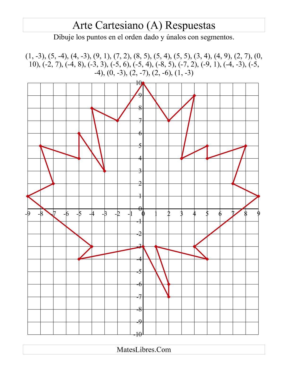 La Hoja De Ejercicios De Matematicas De Arte De Puntos De