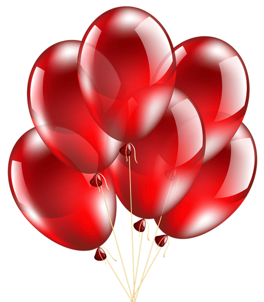 red balloons transparent clip