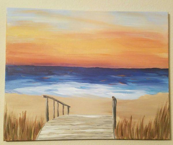 Easy Acrylic Paintings Beach Imgurl
