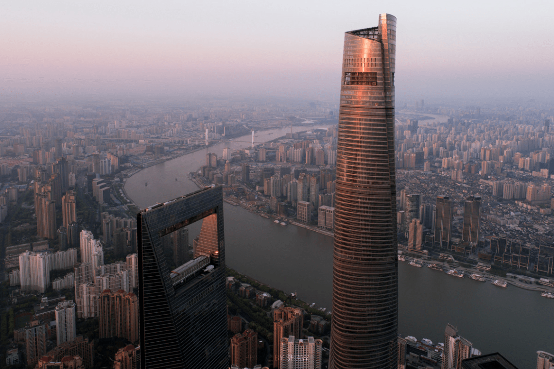 Shanghai Tower and Shanghai World Financial Center