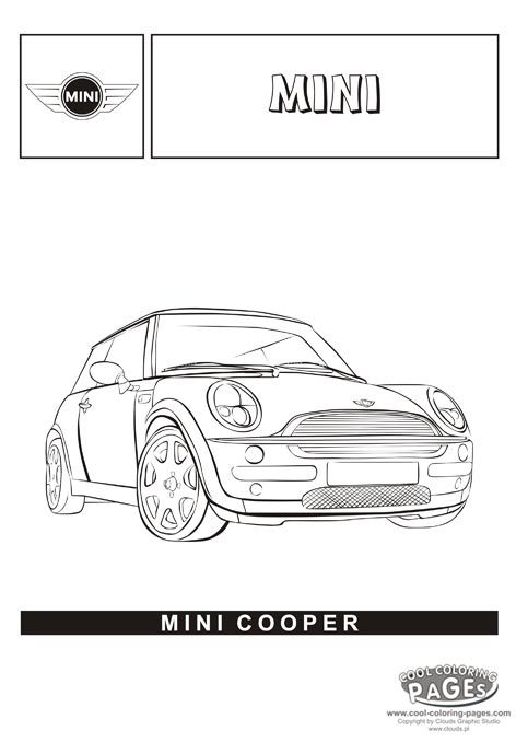 mini cooper  cars coloring pages  cars coloring pages