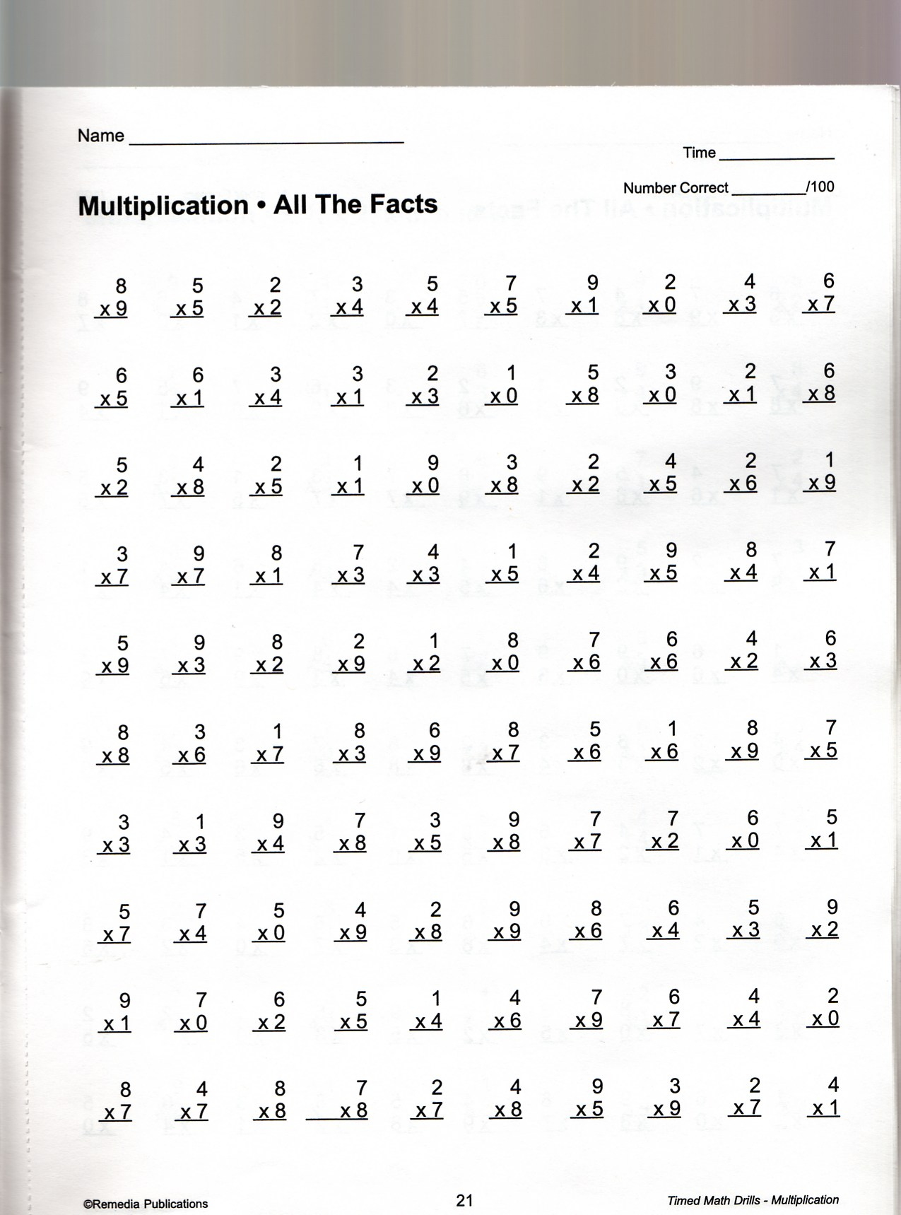Hard Multiplication 2 Digit Problems