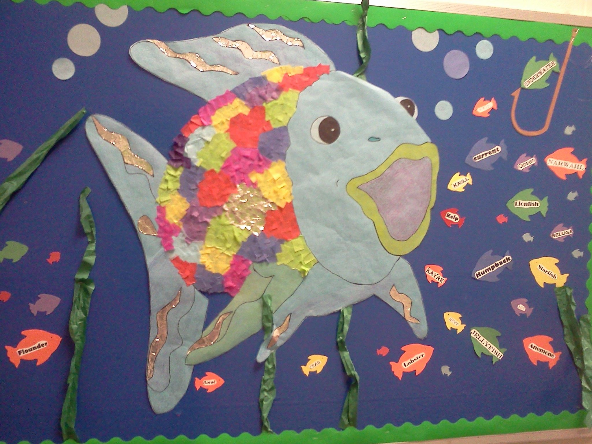 Under The Sea Bulletin Board We Could Read Rainbow Fish Book