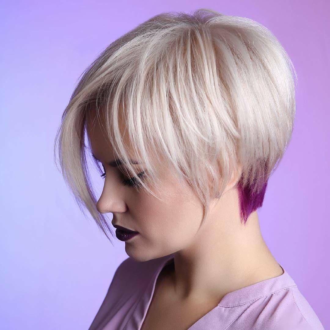 Julias Bob Frisuren 2017 Frisur Gefärbt Mit Weißer Haarfarbe