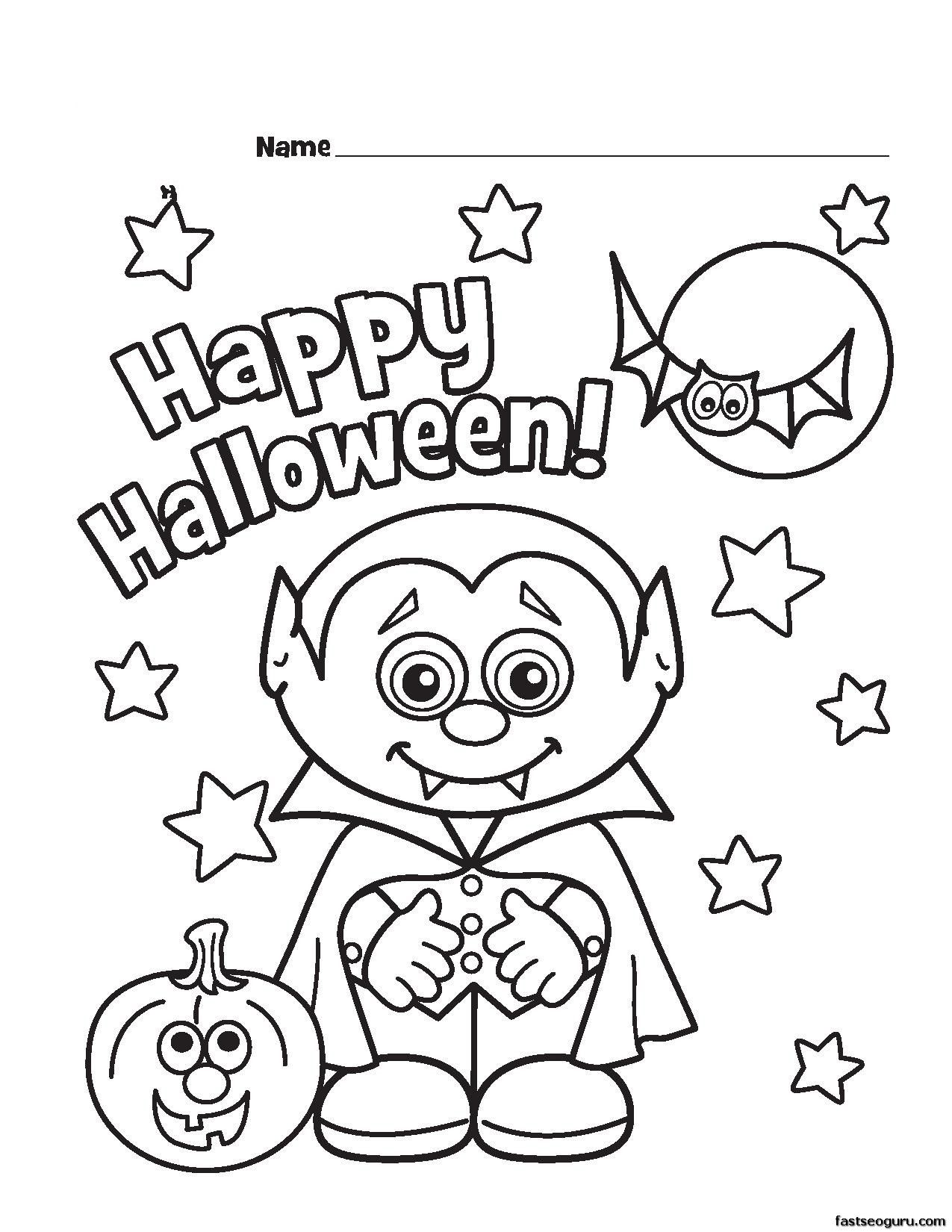 Halloween Vampire Coloring Pages Czfv