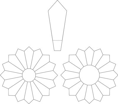 Dresden Plate Printable Pattern for 16 and 20 blade plate