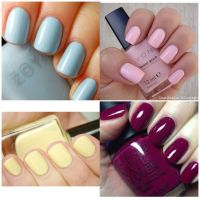 Winter - Spring - Summer - Fall solid color nails ...