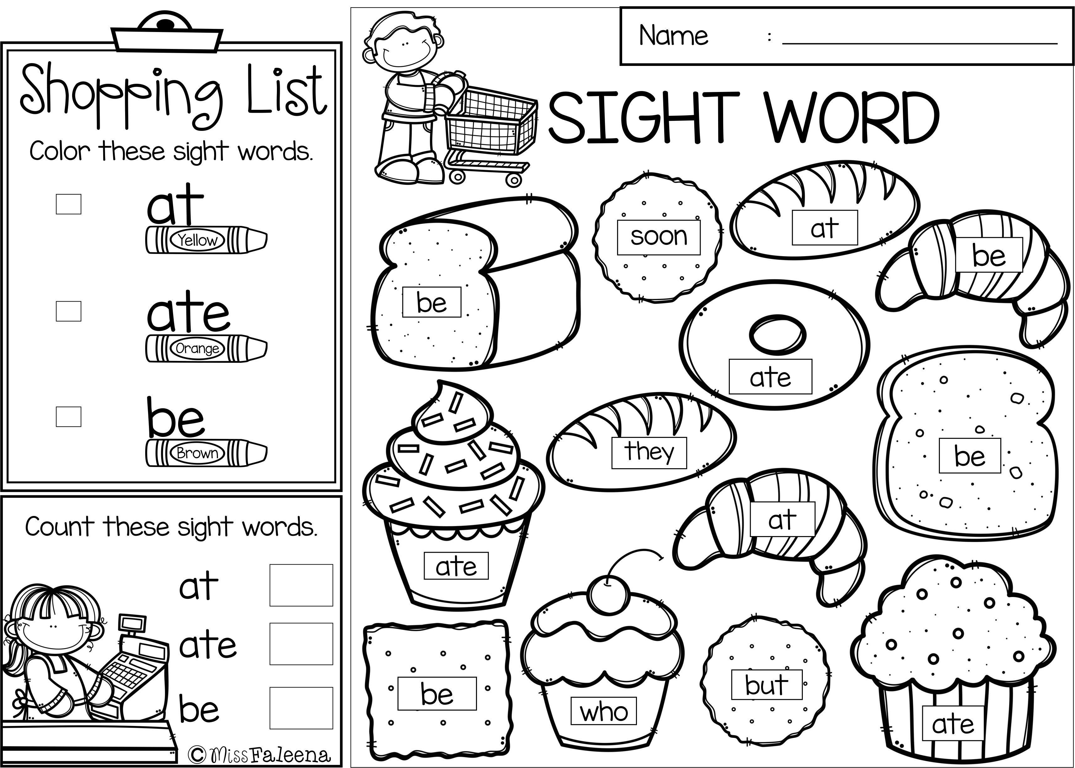 Sight Word Shop Is Perfect For Preschool Kindergarten And