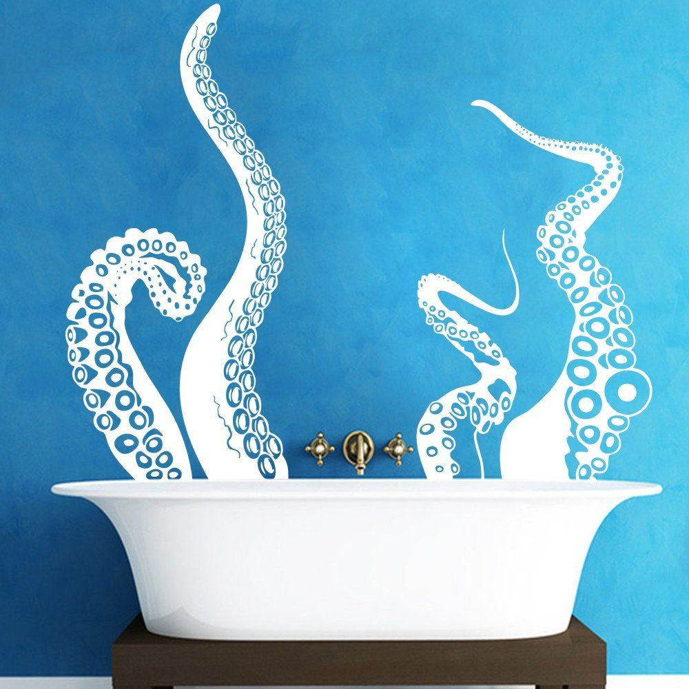 Large Kraken Octopus Tentacles Vinyl Wall Decal