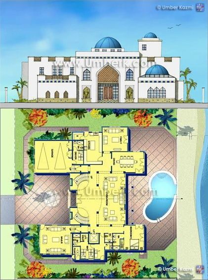Arab Home Plans ARABIC VILLA House Plans Middle Eastern Home