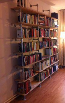 Library Bookshelf DIY