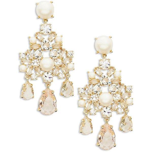 Kate Spade New York Posy Petal Faux Pearl Chandelier Earrings 59 Liked On