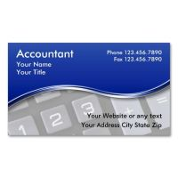 Accountant Business Cards. Make your own business card ...