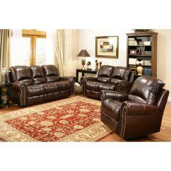 Abbyson Living Berkshire Italian Leather Sectional Sofa Burgundy Room 1025theparty Thesofa