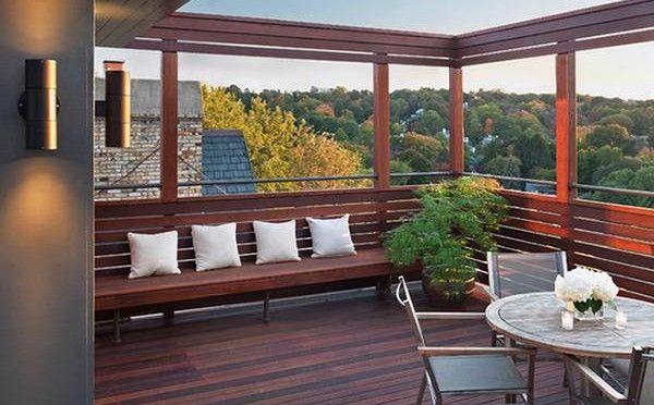 Marcos de madera en la terraza  entrada  Pinterest