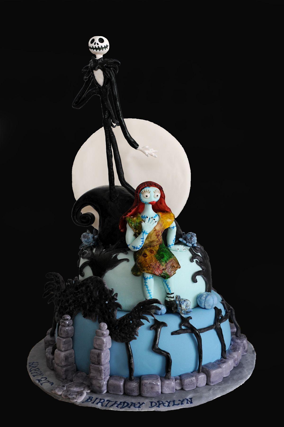 Nightmare Before Christmas Cake Jack Skellington Cake