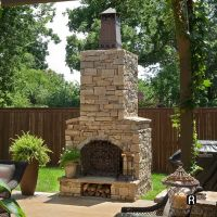 outdoor fireplace | Outdoor Fireplace with Knight Chimney ...