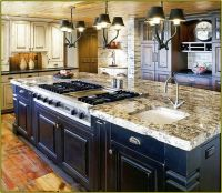 kitchen islands with seating and stove | ... Home ...
