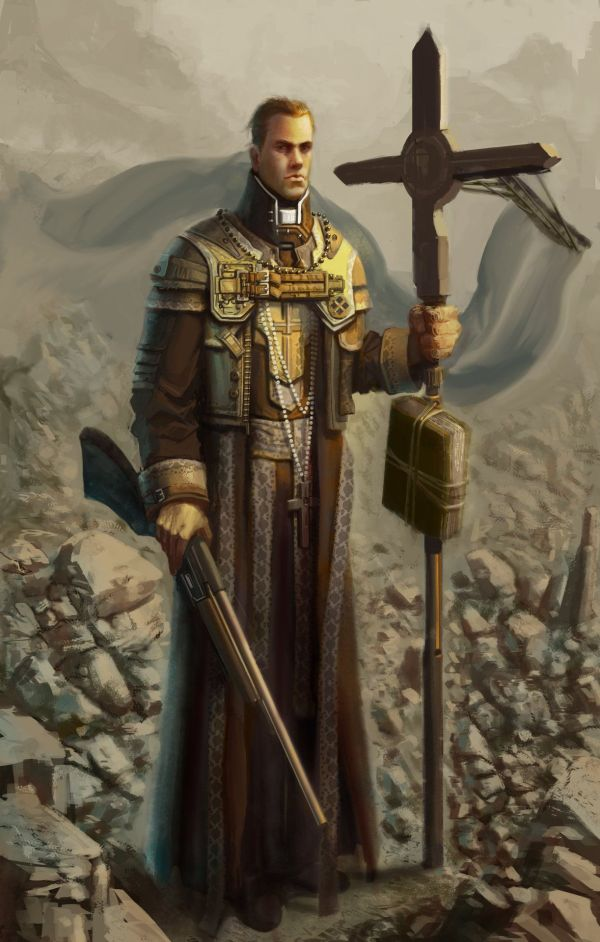 Priest Carlo Kasongo. Character Concept Art Rpg And Post Apocalyptic