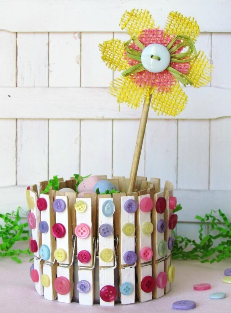DIY Tutorial DIY Clothespin Crafts DIY Clothespin Craft Spring