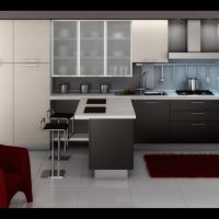 Modern Kitchen Design Gallery With Red Elegant Chair ...