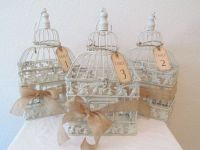 Wedding Birdcage Centerpieces Set Of 3 / Vintage Style Tag ...