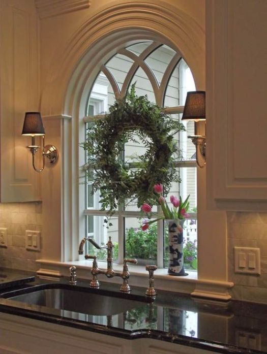 Decorating Arched Windows For Christmas | Decoration For Home