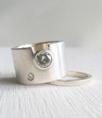 contemporary wedding rings for women | modern wide band ...