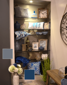 Check out urban barn   shelf display with their nautical themed colored decor details also following the top design and color trends at ids rh pinterest