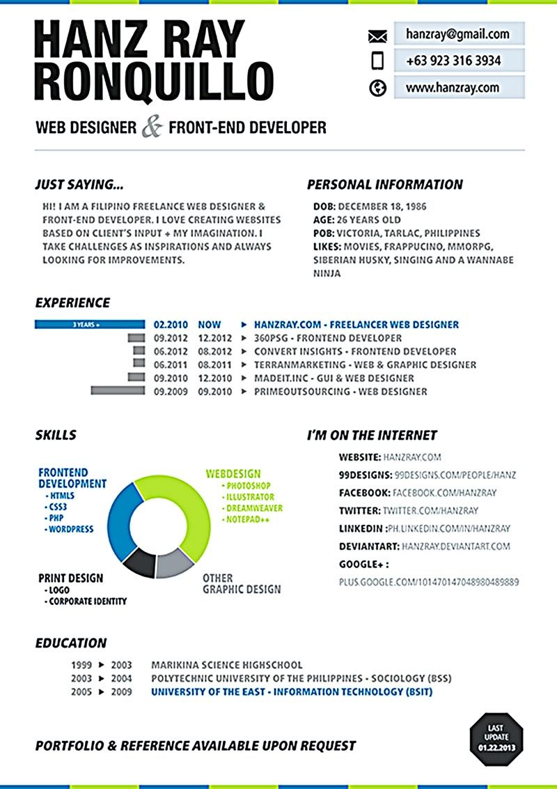Web Developer Resume Is Needed When Someone Want To Ly A Job As