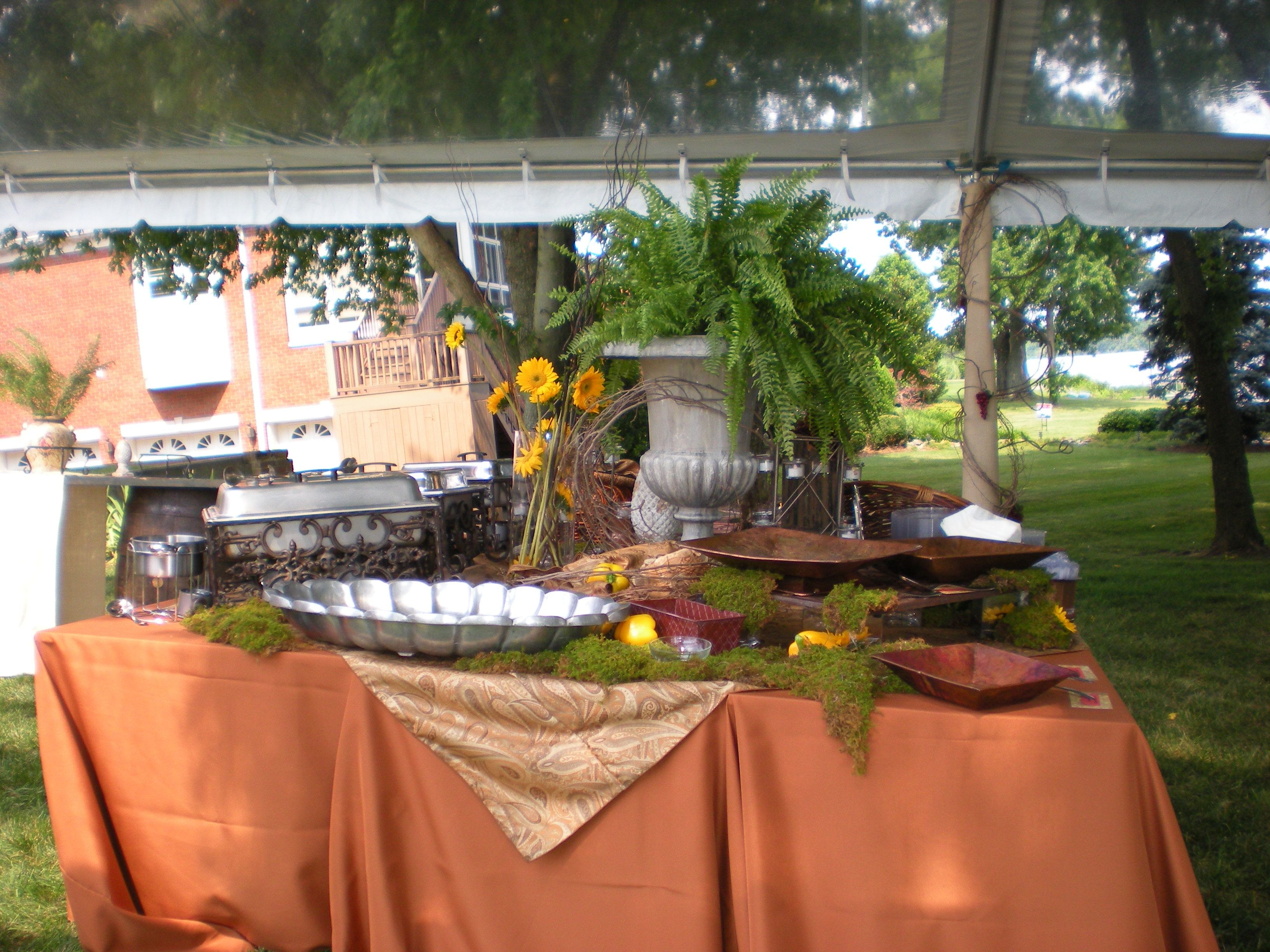 Images Of Displays Of Reception Food