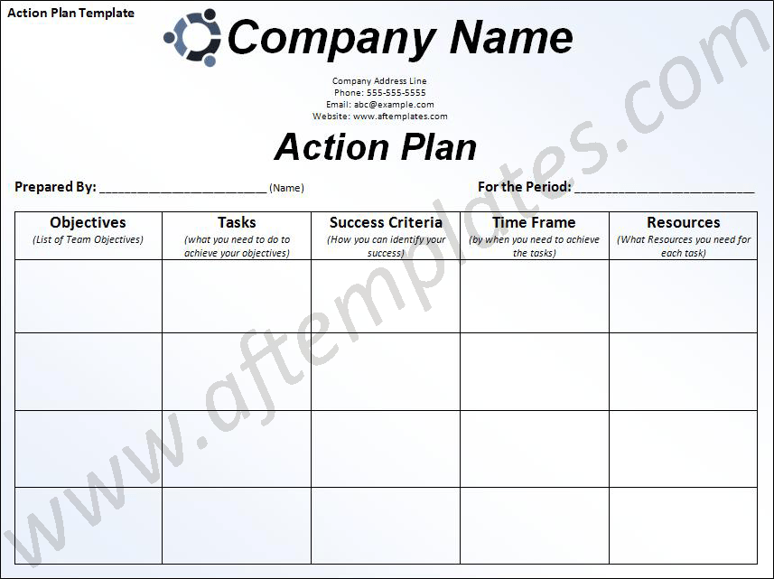 Healthy Action Plan Templates