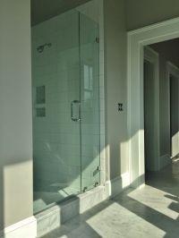 Master Bathroom: 6x12 Carrara marble floor and 6x12 ...