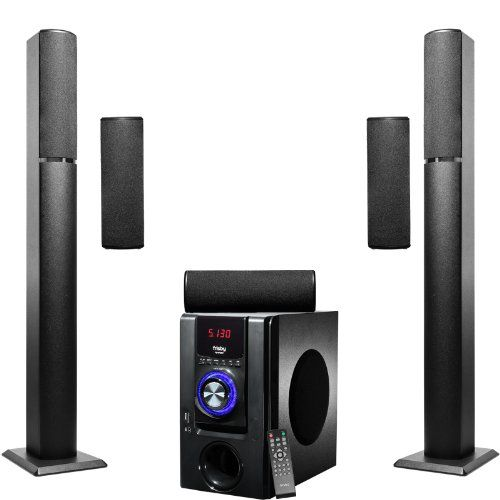 Introducing frisby fs bt surround sound tower home theater speakers system with bluetooth usbsd and remote also rh in pinterest
