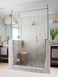 15 Stylish Seats for Walk-In Showers | Shower seat, Bench ...