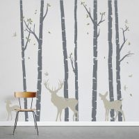 Add a little nature to your decor! Birch Trees Forest with ...