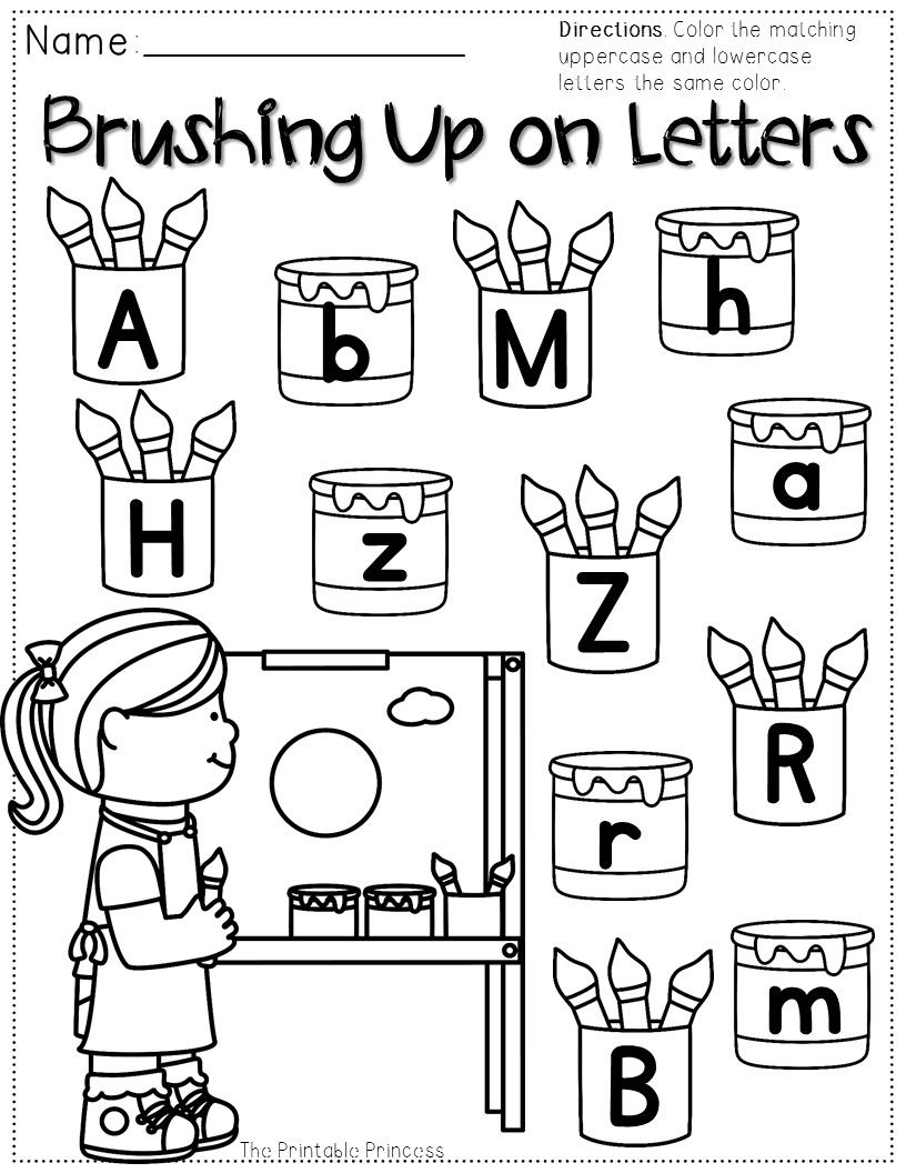 FREEBIE PACKET! Color the uppercase and lowercase letters