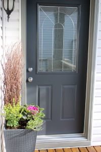 Front Porch Reveal + New Door Color | Benjamin moore ...