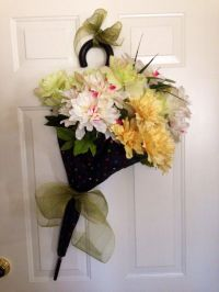 """My """"spring umbrella"""" door decoration. 