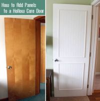 How to Add Molding Panels to a Flat Door (Pretty Handy ...