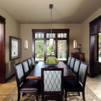 Living Room Cherry Wood Trim Design, Pictures, Remodel ...