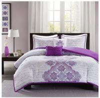Details about NEW Bed Bag Twin XL Full Queen 5 pc Purple ...