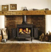 Image result for Wood Stove Mantel Ideas | Decorating ...