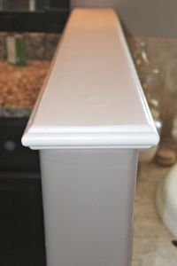 DIY Wood Cap for a Pony Wall | Stair Railing | Pinterest ...