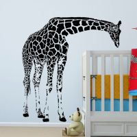 Large Giraffe Wall Decal Vinyl Sticker