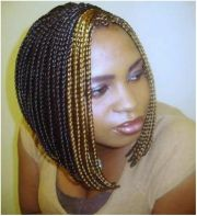 braided black layered bob hairstyles