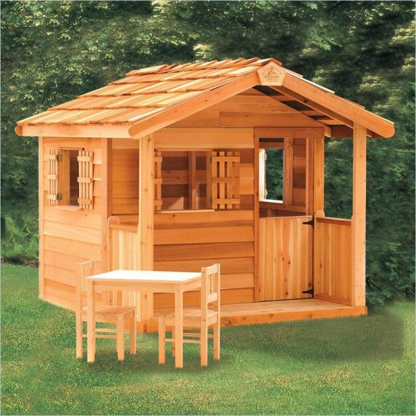 Playhouse Outdoor Toys - Wooden Garages