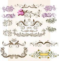 Floral Vintage Flowers Vector Ornamental Design Elements ...