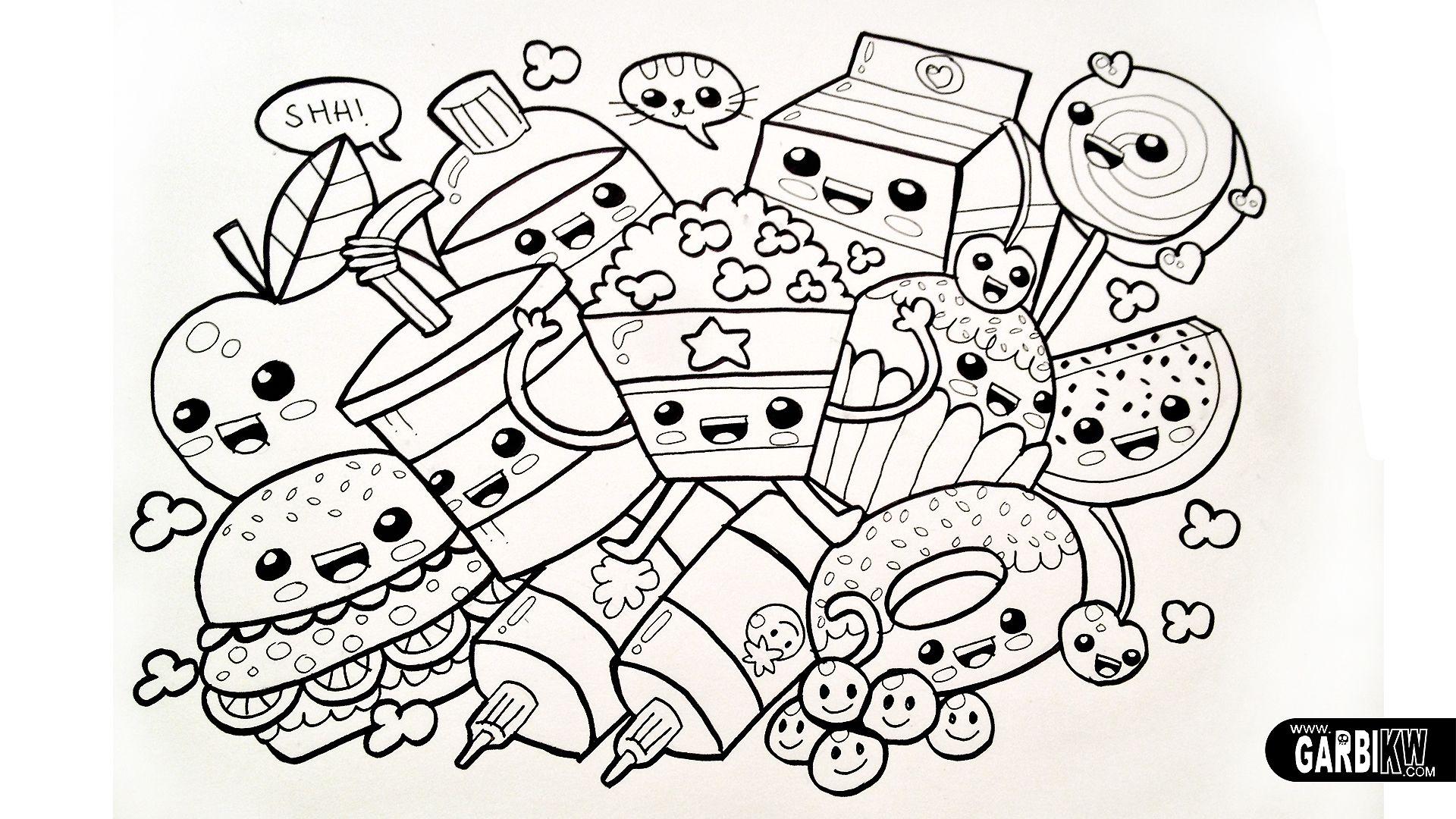 Cool Kawaii Sushi Coloring Pages   bigbrowndog