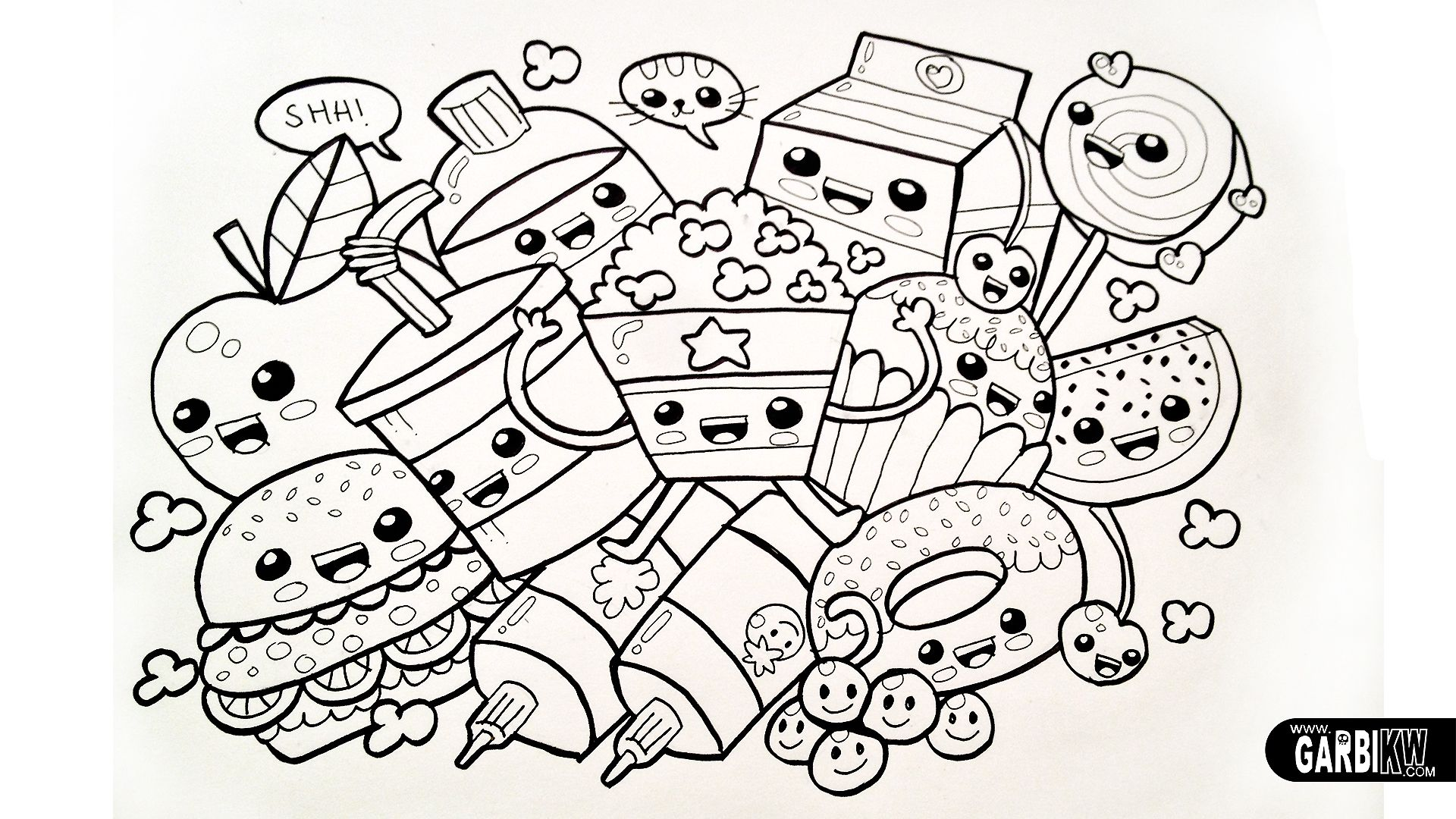 Cute Sushi Adult Coloring Page New Kids Coloring Pages For Girls